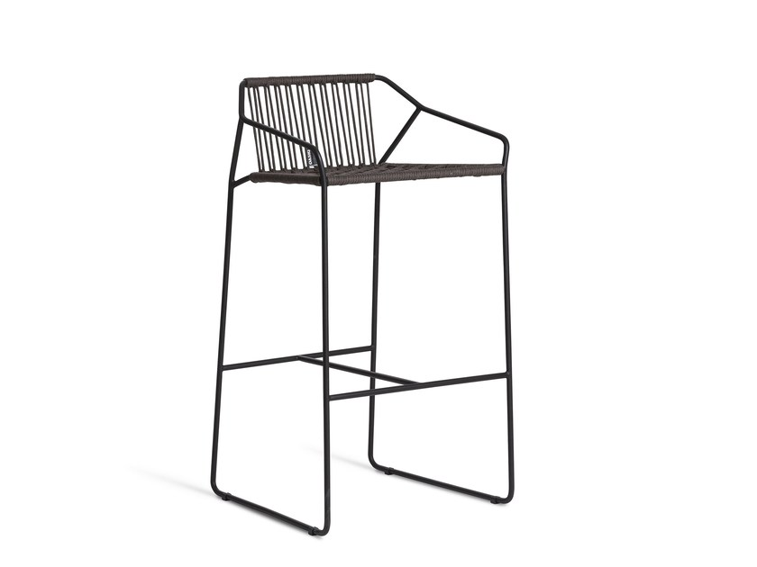 Stainless steel garden chair with armrests SANDUR | Chair by OASIQ