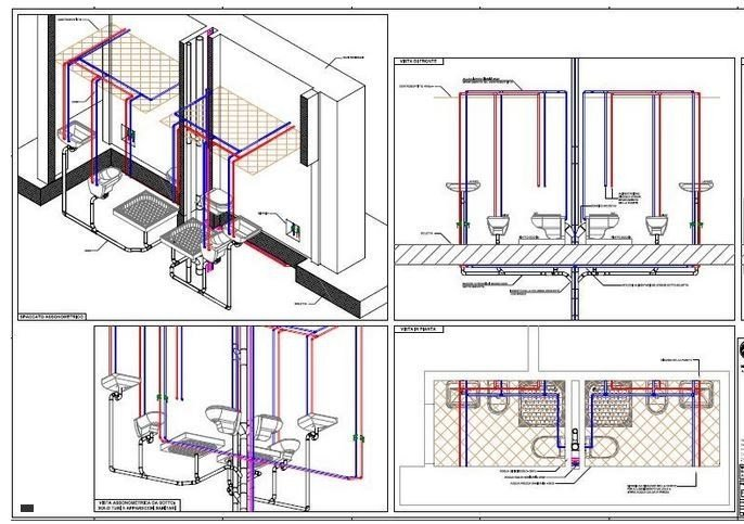 Sizing of water pipe and network SANITARIO by ATH ITALIA software
