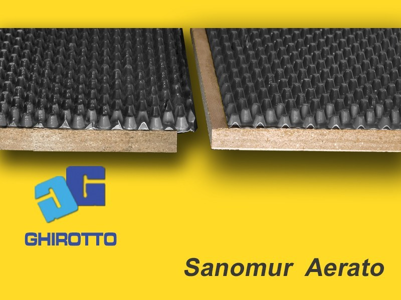 Renovating and de-humidifying additive and plaster SANOMUR  AERATO by GHIROTTO