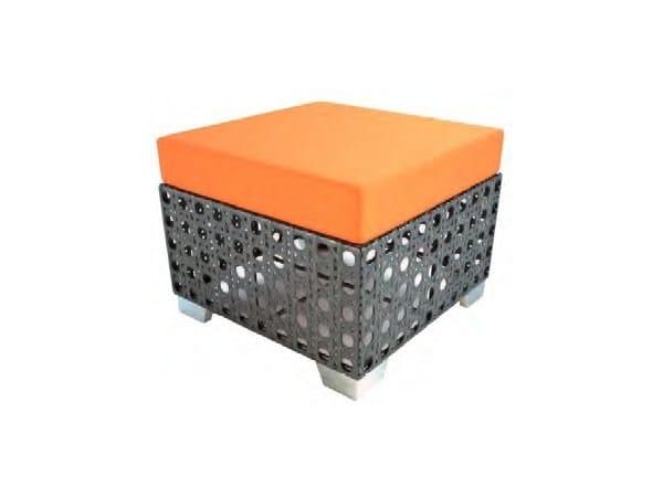 Square Sunbrella® garden footstool SANTA MONICA   Garden footstool - Sérénité Luxury Monaco