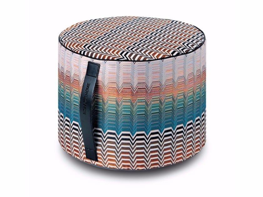Pouf cilindro in tessuto jacquard SANTAFE' | Pouf - MissoniHome
