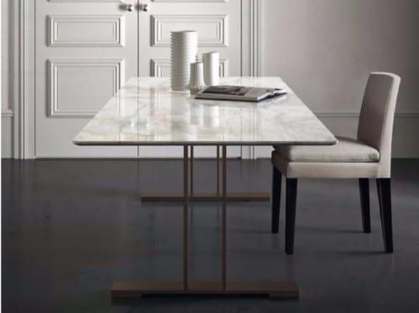 Rectangular marble table SANTIAGO - Casamilano