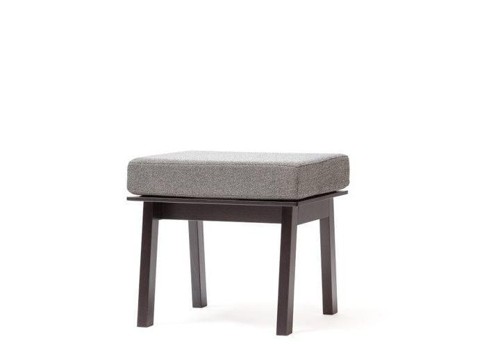 Low fabric stool SANTIAGO | Fabric stool by TON