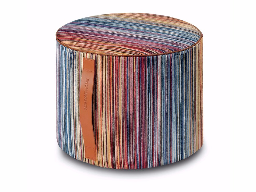 Fabric pouf with removable lining SANTIAGO | Pouf - MissoniHome