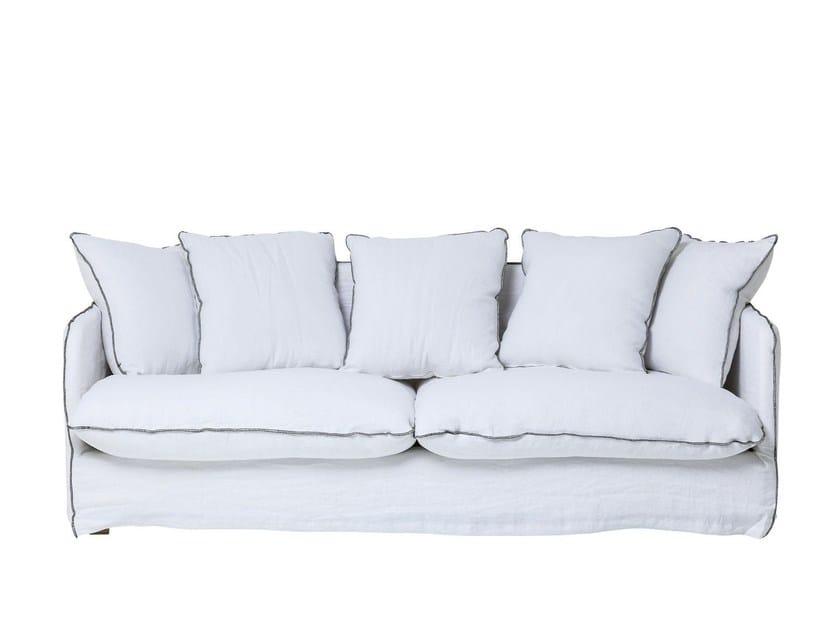 3 seater linen sofa SANTORINI | 3 seater sofa - KARE-DESIGN