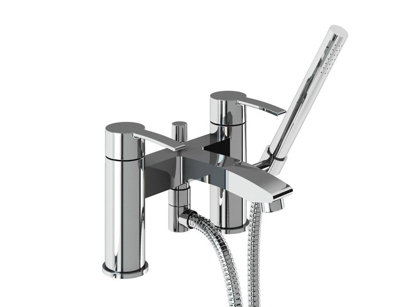 2 hole bathtub mixer with hand shower SAPPHIRE | Bathtub mixer with hand shower - Polo