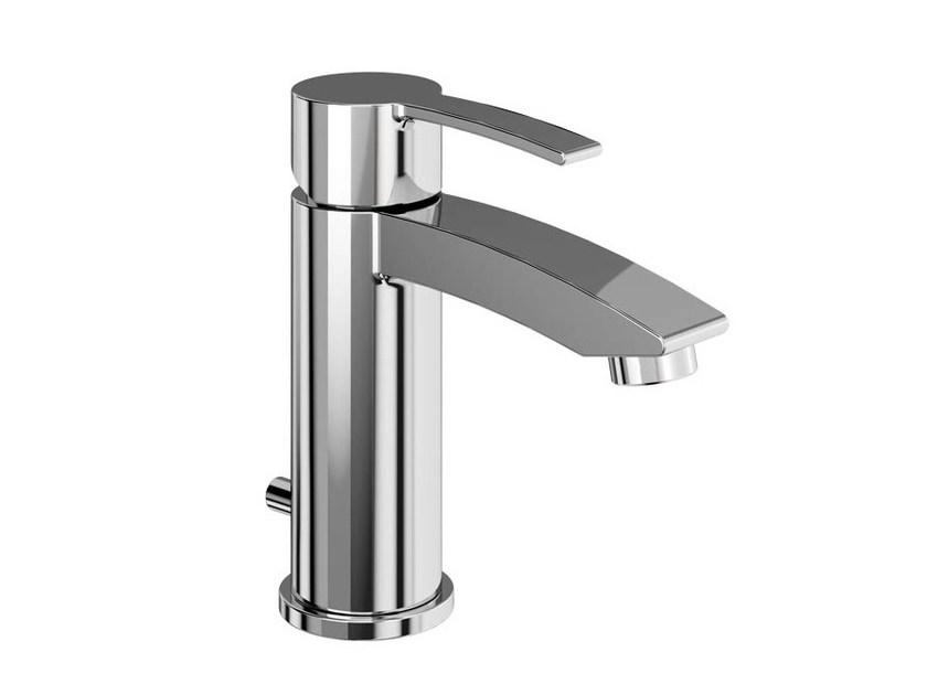 Single handle brass washbasin mixer SAPPHIRE | Washbasin mixer with automatic pop-up waste - Polo