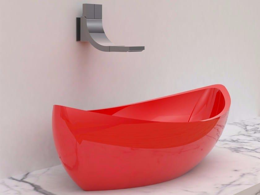 Countertop Adamantx® washbasin SASHIMI by ZAD ITALY
