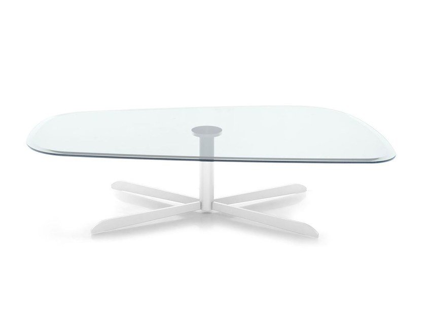 Glass coffee table for living room SASSI | Coffee table - Calligaris