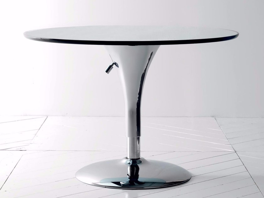 Height-adjustable round coffee table SATELLITE - Esedra by Prospettive
