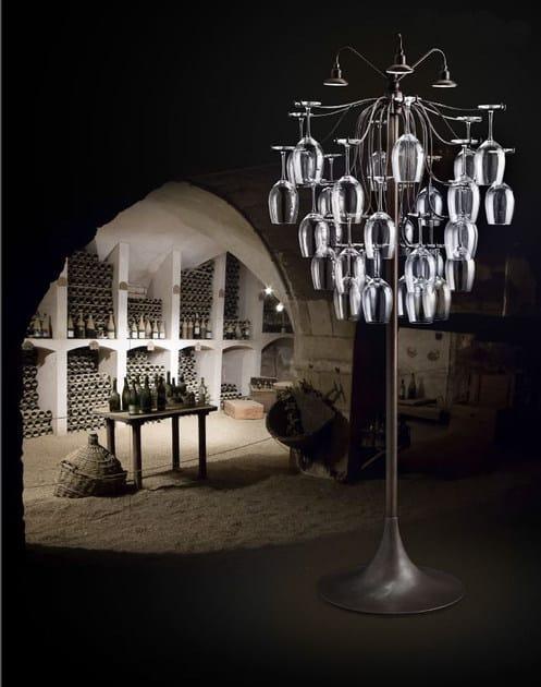 LED glass floor lamp SAUVIGNON   Floor lamp - Aldo Bernardi