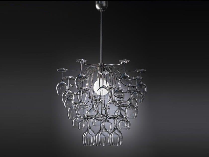 Glass chandelier SAUVIGNON | Pendant lamp - Aldo Bernardi