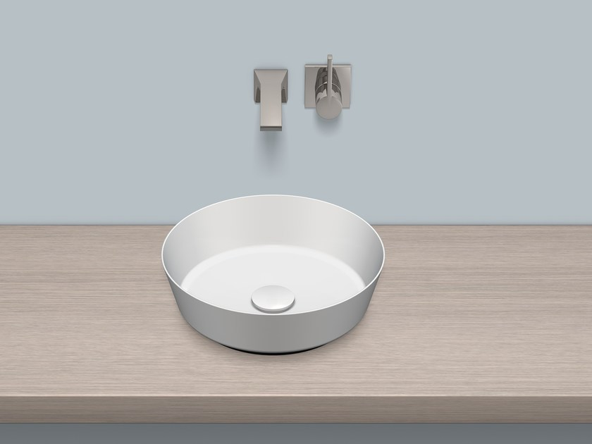 Dish basin from glazed steel SB.CO375 | Washbasin by Alape