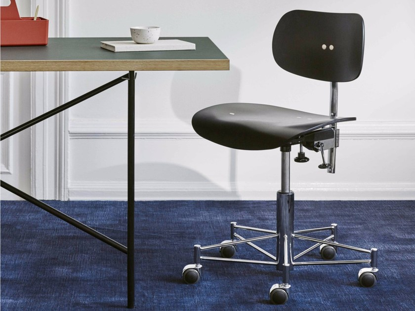 Height-adjustable task chair with casters SBG 197 R | Task chair - WILDE+SPIETH Designmöbel