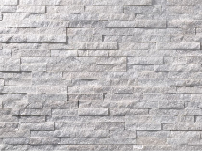 Scaglietta bianca rivestimento in pietra naturale by b b - Rivestimento per esterno in pietra ...