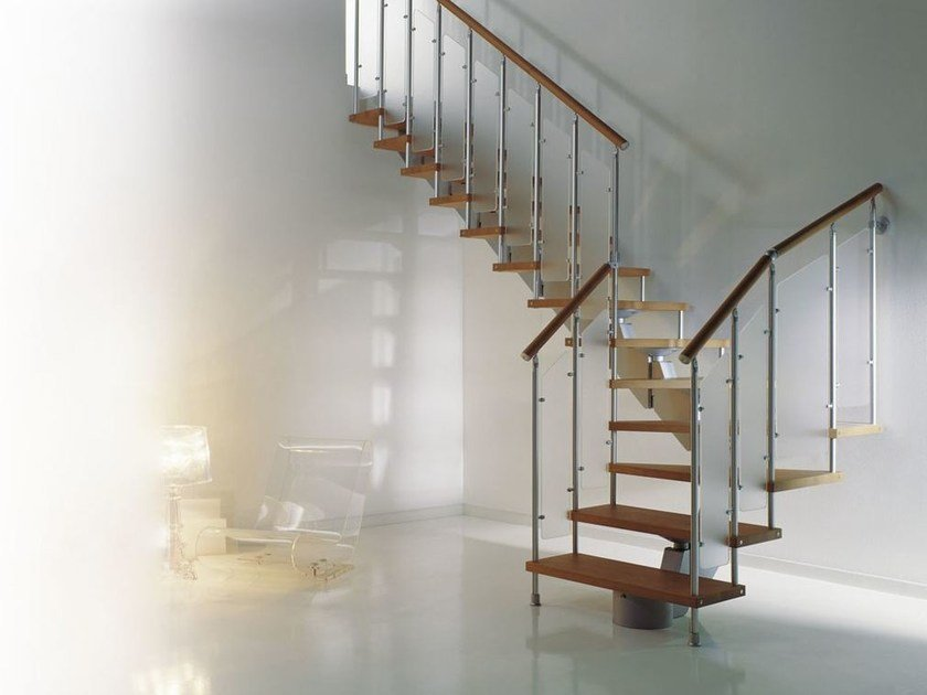 Aluminium Open staircase SCENIK 080 VERVE | Open staircase by Fontanot Spa