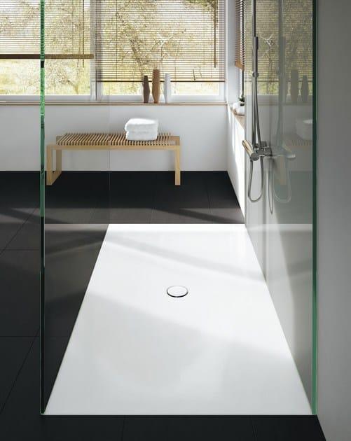 Piatto doccia filo pavimento rettangolare in acciaio - Piatto doccia incassato nel pavimento ...