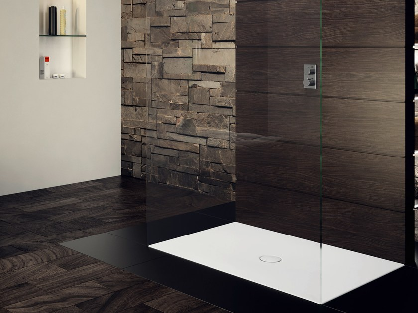 piatto doccia filo pavimento rettangolare in acciaio. Black Bedroom Furniture Sets. Home Design Ideas