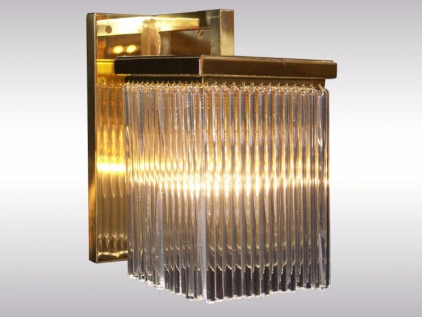 Crystal and brass wall lamp SCOTCH-WL - Woka Lamps Vienna