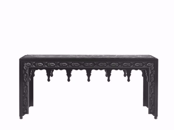 Rectangular wooden console table SCOTT | Console table - Gianfranco Ferré Home