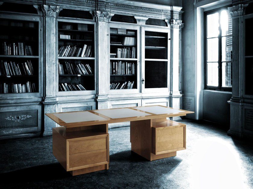 Wooden writing desk PRESIDENT | Writing desk by Morelato