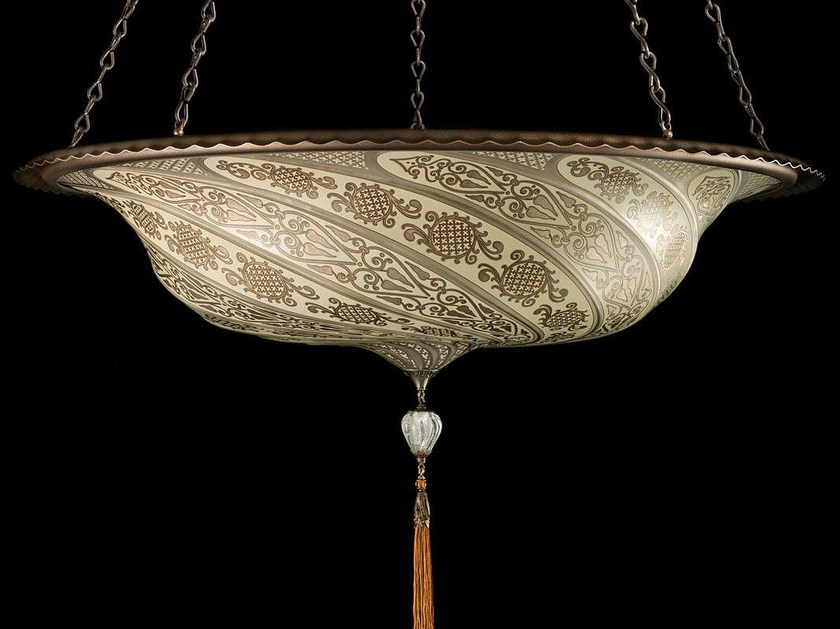 Glass pendant lamp SCUDO SARACENO | Glass pendant lamp - Fortuny® by Venetia Studium