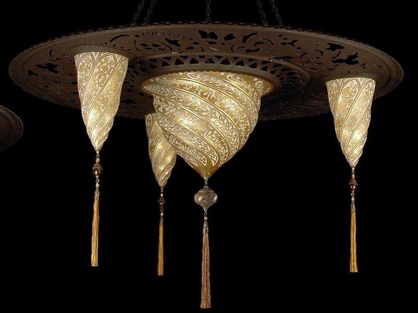 Glass pendant lamp SCUDO SULTANO - Fortuny® by Venetia Studium