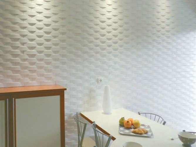 Wall Decor Gypsum : Modular indoor gypsum d wall tile sd ?soho? by staff