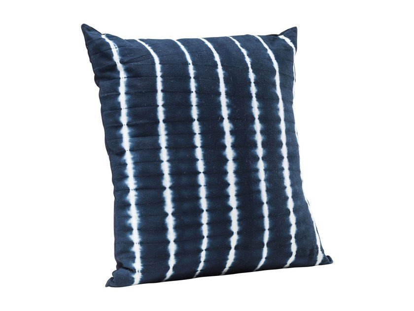 Square cotton cushion SEA BREEZE BATIC DOTS by KARE-DESIGN