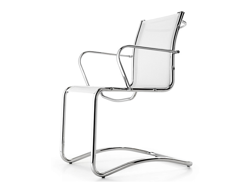 Cantilever mesh chair with armrests SEASON NET | Cantilever chair - Quinti Sedute