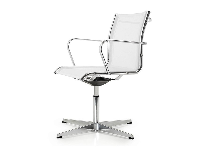 Swivel mesh task chair with armrests SEASON NET | Task chair with 4-Spoke base - Quinti Sedute