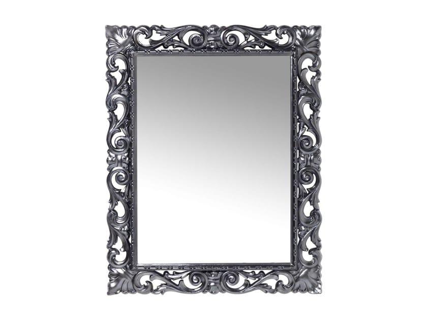 Rectangular wall-mounted framed mirror SECOLO CHROME - KARE-DESIGN