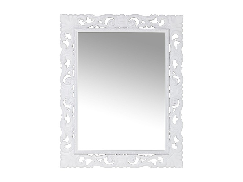 Rectangular wall-mounted framed mirror SECOLO WHITE - KARE-DESIGN