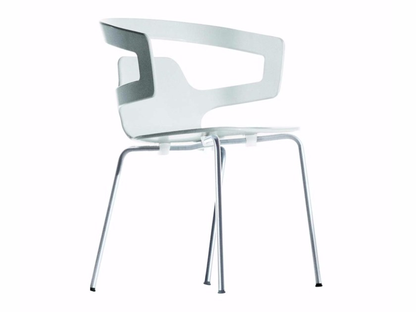 Stackable chair with armrests SEGESTA CHAIR - 500_O - Alias