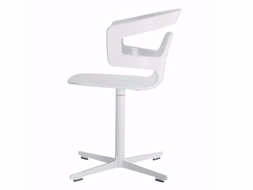 Swivel chair with 4-spoke base SEGESTA CROSS - 557 - Alias