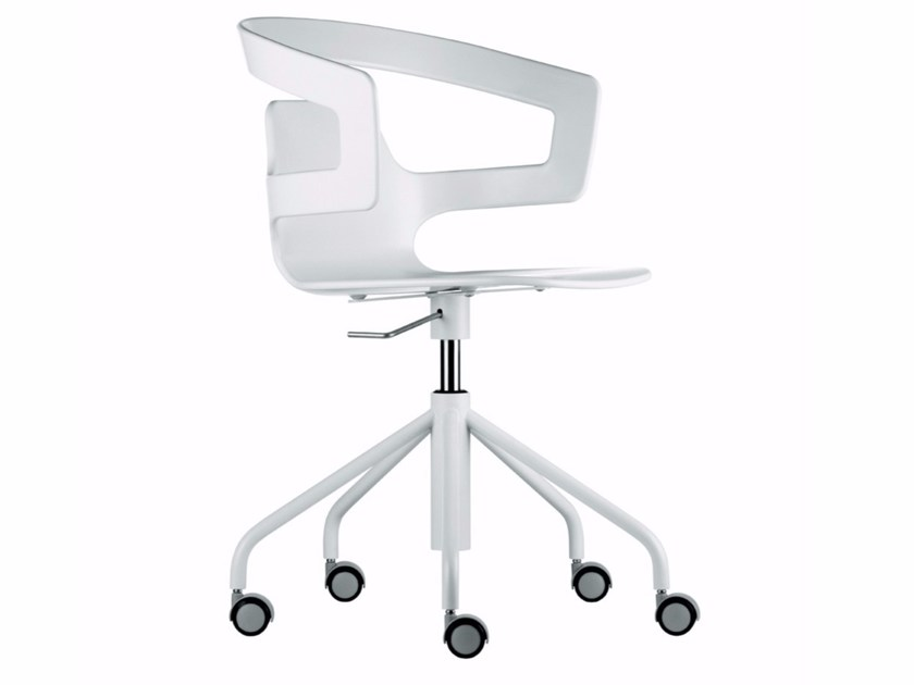 Swivel chair with 5-spoke base with casters SEGESTA STUDIO - 508 by Alias