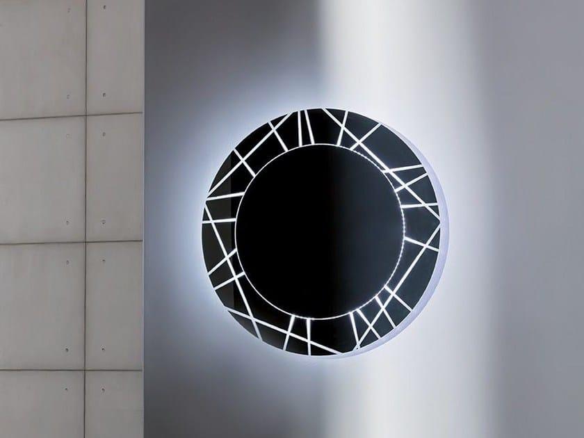 Round wall-mounted mirror SEGMENT ROUND by Sovet italia