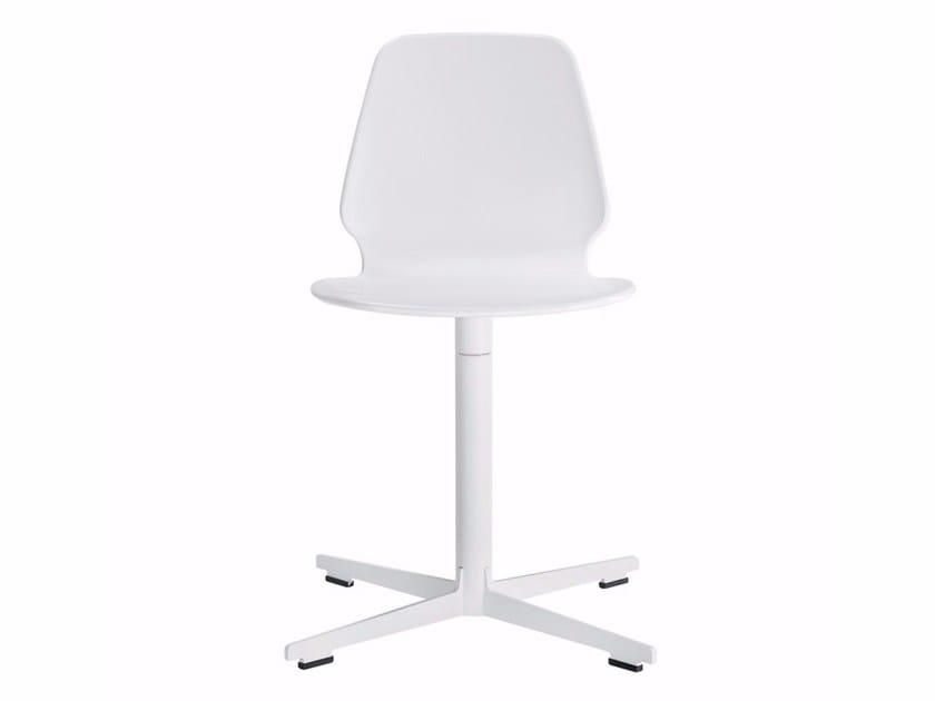 Swivel chair with 4-spoke base SELINUNTE CROSS - 559 - Alias