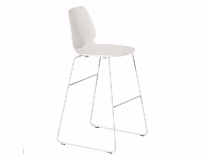 Sled base counter stool SELINUNTE HIGH STOOL - 548_O by Alias