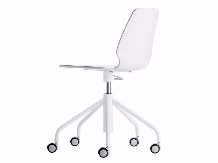 Swivel height-adjustable chair with casters SELINUNTE STUDIO - 538 - Alias