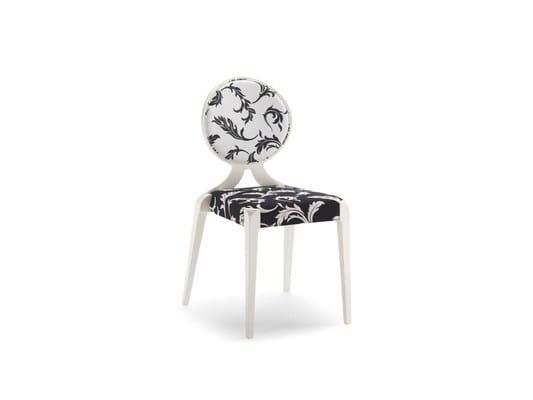 Medallion stackable fabric chair SENDY | Medallion chair - CIZETA