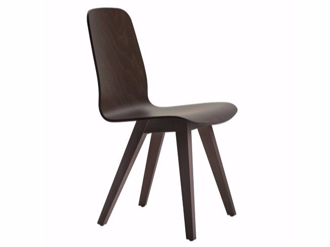 Multi-layer wood chair SENIA | Multi-layer wood chair - Varaschin