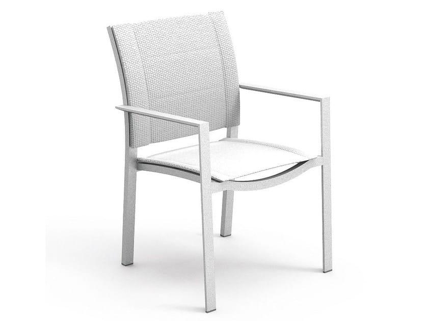 Aluminium garden chair with armrests SENSE | Chair with armrests - ITALY DREAM DESIGN - Kallisté