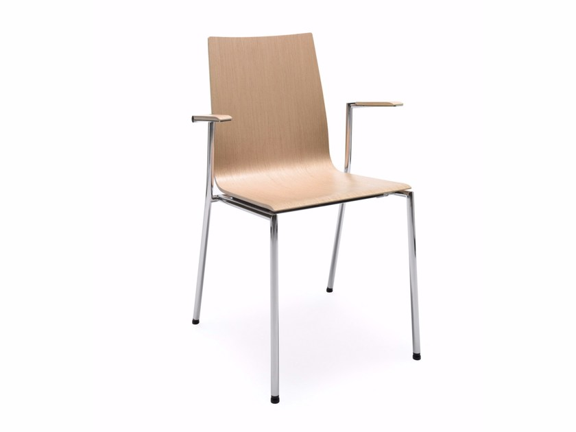 Stackable training chair with armrests SENSI K1H by profim