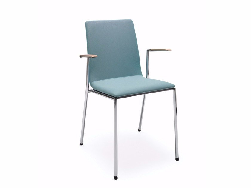 Stackable fabric training chair with armrests SENSI K4H by profim
