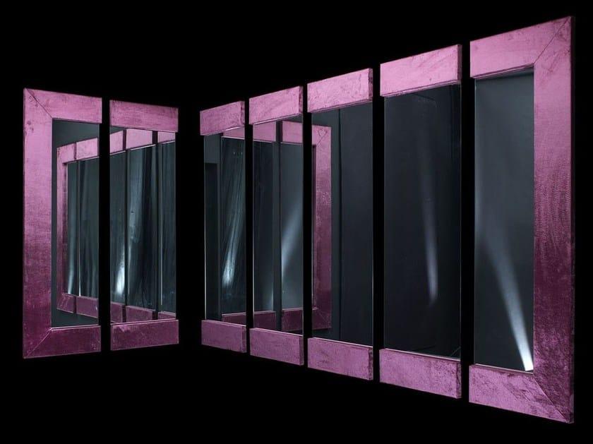 Rectangular wall-mounted framed mirror SEQUENCE - VGnewtrend