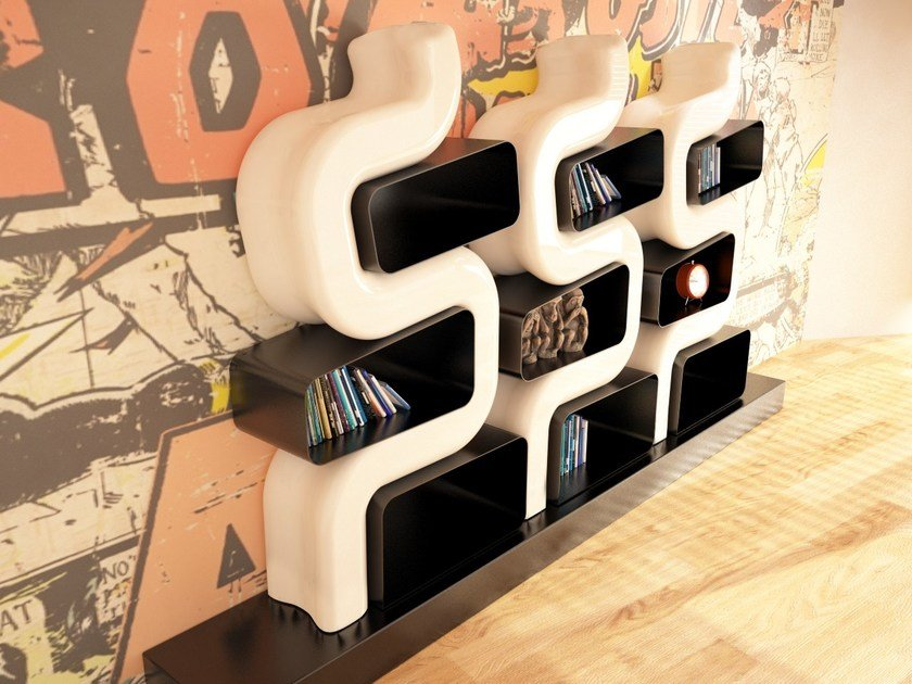 Open wall-mounted Adamantx® bookcase SER P - ZAD ITALY
