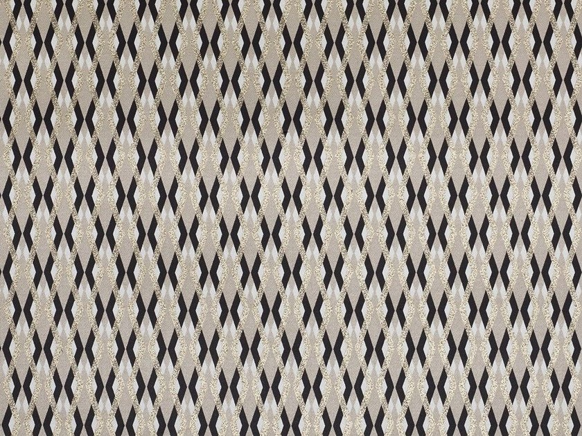 Cotton fabric with graphic pattern SERPENTINO - Dedar