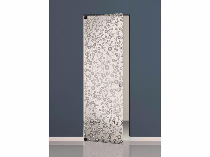 Hinged sandblasted glass door SETT'ANTA | Hinged door - Casali
