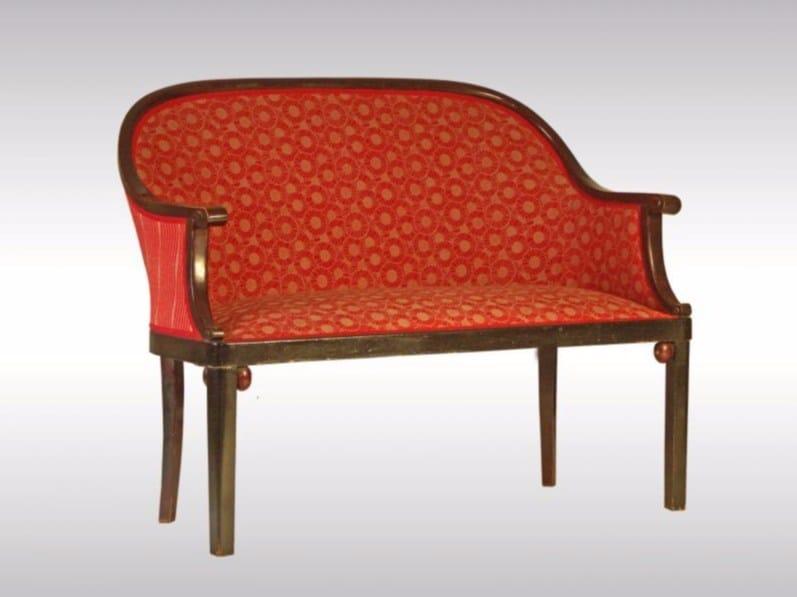 Fabric small sofa SETTEE - Woka Lamps Vienna